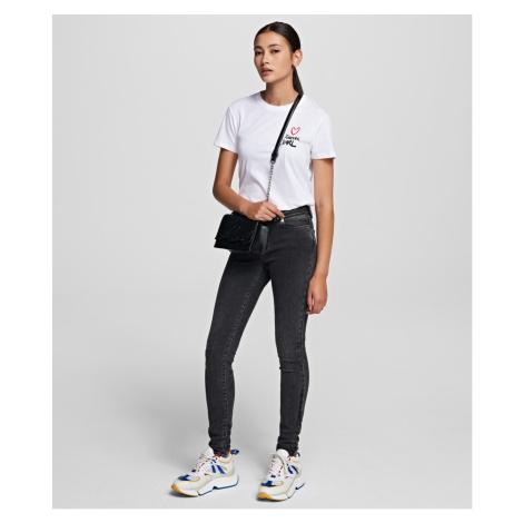 Džíny Karl Lagerfeld Biker Denim Pants W/ Logo - Šedá
