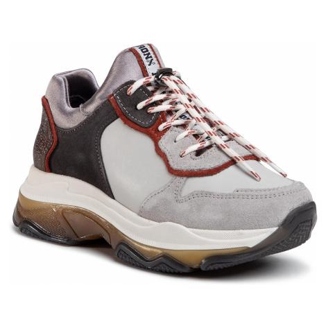 Sneakersy BRONX - 66167C-CA Ice Grey/Rust/Asphalt