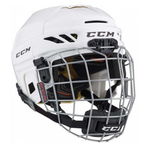 CCM FITLITE 3DS COMBO YT bílá - Dětská hokejová helma