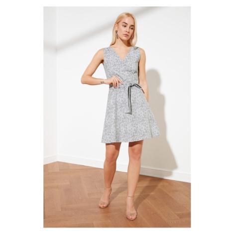 Trendyol Green Belt V-Neck Dress
