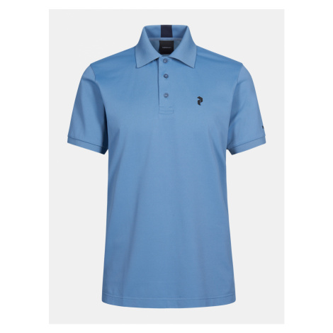 Polokošile Peak Performance M Tech Solid Polo - Modrá