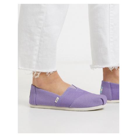 TOMS alpargata espadrilles in purple