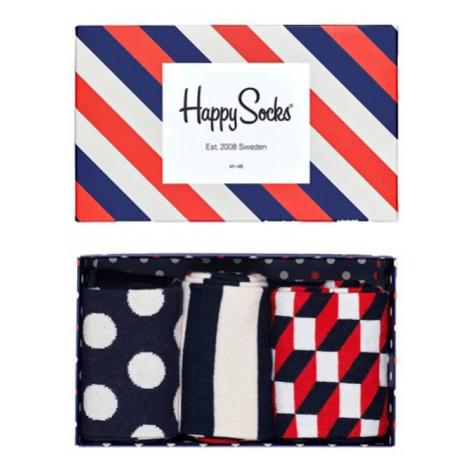 Happy Socks Stripe Gift Box Multicolor XSTR08-6000
