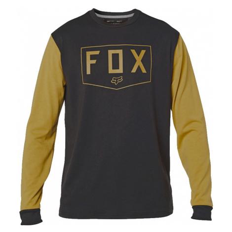 Tričko Fox Shield LS Tech black/yellow