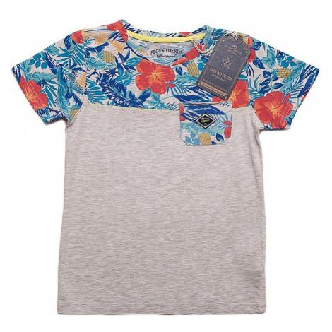 Ebound chlapecké šedé tričko s potiskem květin