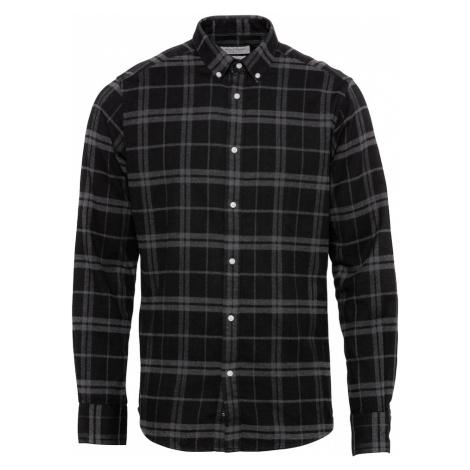 Bruun & Stengade Košile 'Hamza' černá / šedá