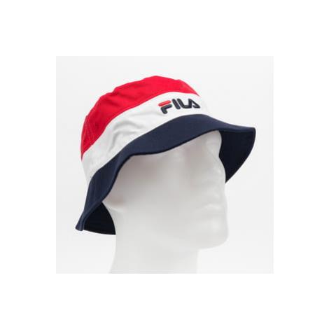Fila Blocked Bucket Hat červený / bílý / navy