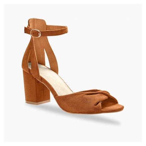 Blancheporte Sandály na podpatku, karamelové karamelová
