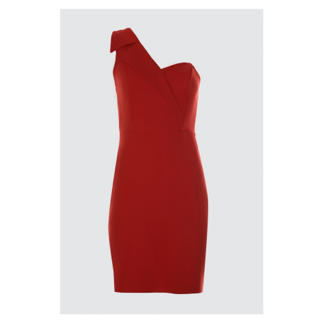 Trendyol Red Collar Detailed Dress