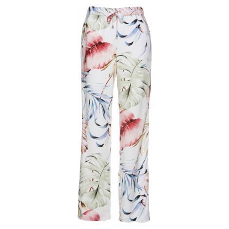 Viskózové kalhoty s třpytivými galonovými proužky Bonprix
