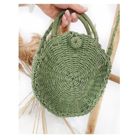 Stylová pletená kabelka kulatého tvaru DStreet