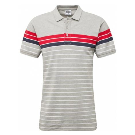 Urban Classics Tričko červená / bílá / námořnická modř / šedý melír