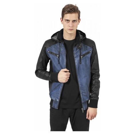 Hooded Denim Leather Jacket Urban Classics