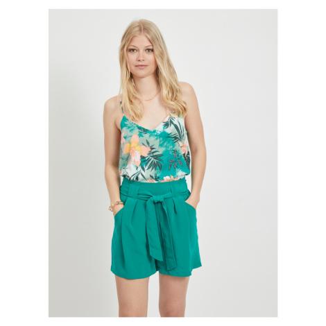 Zelený květovaný top VILA Suvita
