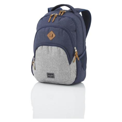 Travelite Městský batoh Basics Melange Navy/grey 22 l