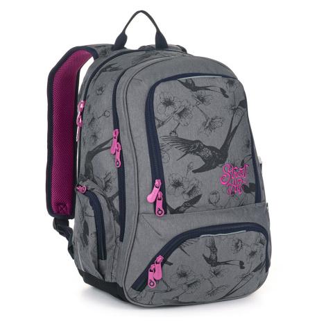 Studentský batoh s kolibříky Topgal SURI 20047 G
