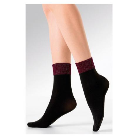 Černo-bordové silonkové ponožky Lex Gabriella