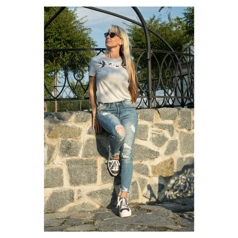 Karl Lagerfeld dámské tričko šedé