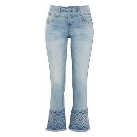 Kotníkové džíny s výšivkou Analis Cellbes