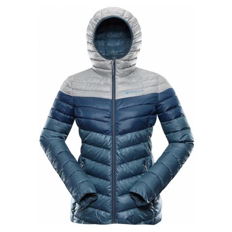 Dámská hi-therm bunda Alpine Pro MERVA - šedo-modrá
