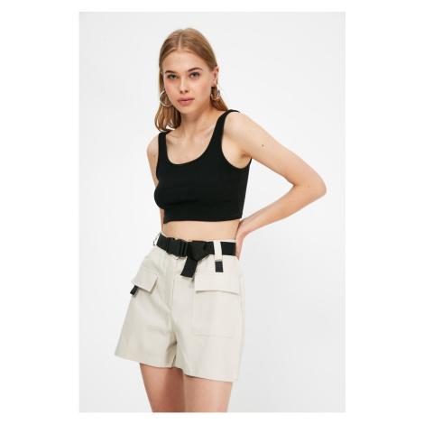 Trendyol Beige Pocket Detailed Shorts & Bermuda