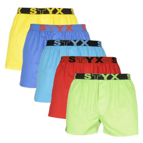 5PACK pánské trenky Styx sportovní guma vícebarevné (B96769646869)
