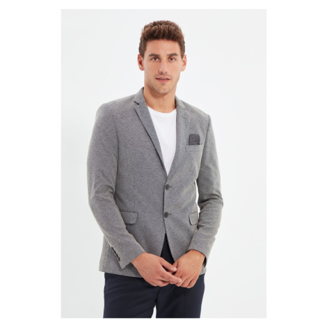 Trendyol Black Men's Blazer Jacket Textured Jacket
