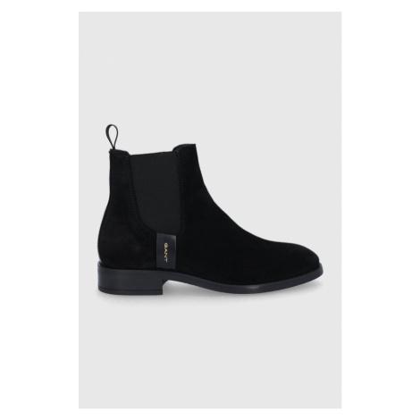 Gant - Kožené kotníkové boty Fayy