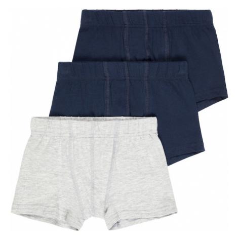 NAME IT Spodní prádlo šedý melír / marine modrá