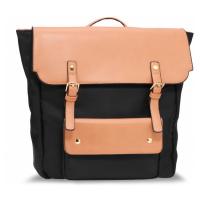 Černo béžový unisex stylový batoh Fernie