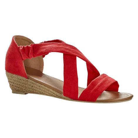 Blancheporte Sandály v semišovém vzhledu červená