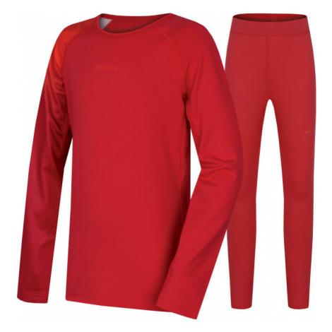 Dětské funkční kalhoty + triko HUSKY Active Winter SET růžová