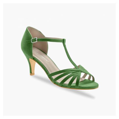Blancheporte Boty salomé na podpatku zelená