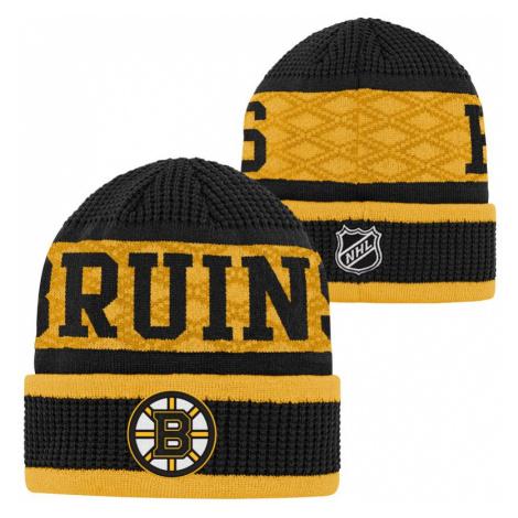 Dětská zimní čepice Outerstuff Puck Pattern Cuffed Knit NHL Boston Bruins
