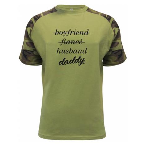 Partnerské triko nastávající rodiče - Raglan Military