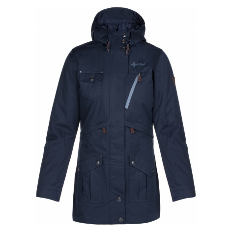 Dámský zimní kabát KILPI BRASIL-W tmavě modrá