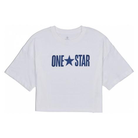 TRIKO CONVERSE One Star Printable Boxy W - bílá