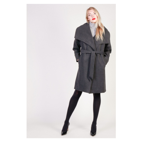 Fontana dámský tmavě šedý kabát Fontana 2.0