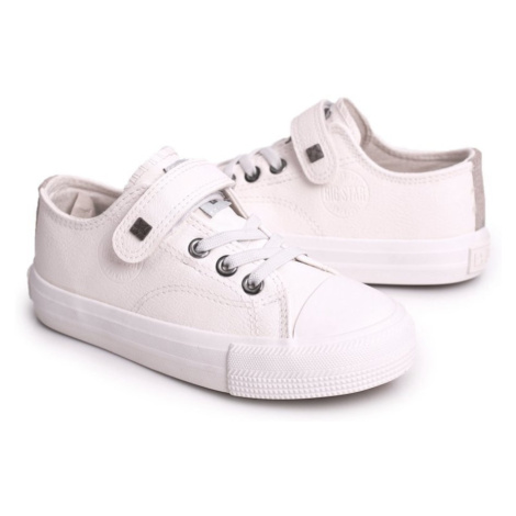 Children's Leather Sneakers BIG STAR EE374035 White