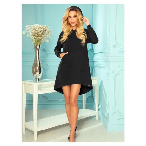 Numoco černé mikinové šaty