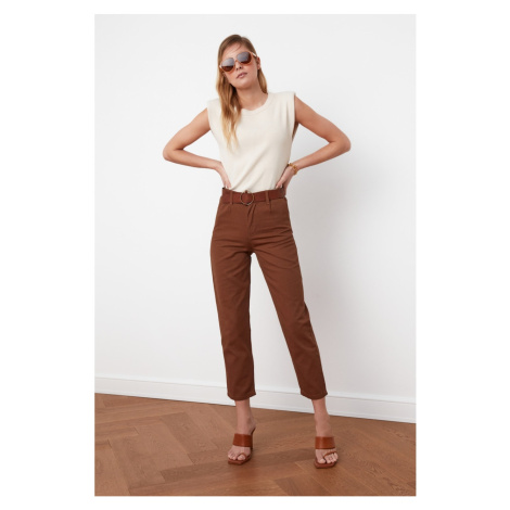Trendyol Camel Belt Pants