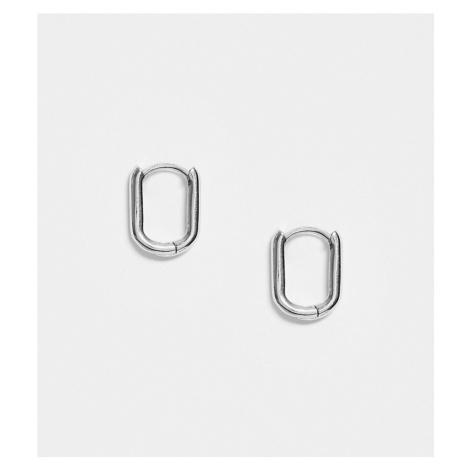 DesignB Exclusive sterling silver hoop earrings in oval DesignB London