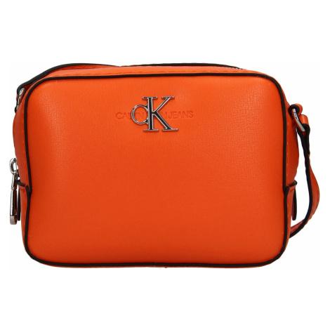 Dámská crossbody kabelka Calvin Klein Jeans Stella - oranžová