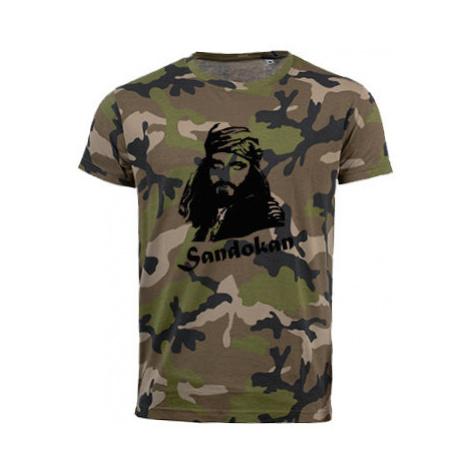Pánské maskáčové tričko Sandokan