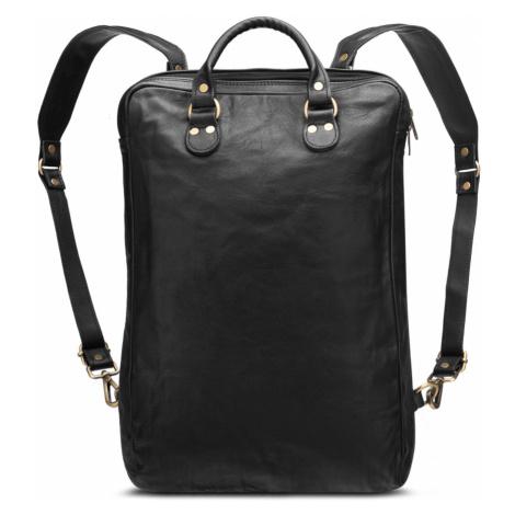Bagind Origo Sirius - Dámský i pánský kožený batoh černý, ruční výroba, český design