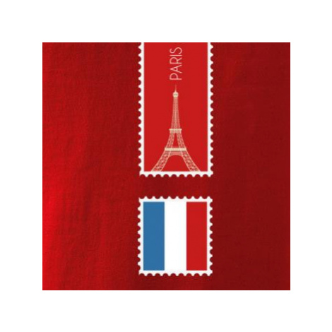 Paříž známka barevná - Triko dětské Long Sleeve
