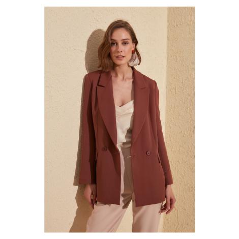 Trendyol Brown Classic Blazer Jacket