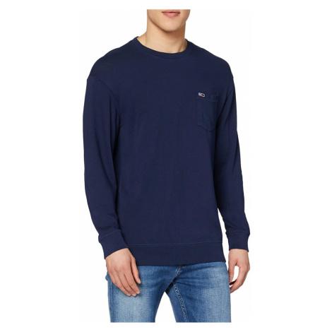 Tommy Jeans pánské tmavě modré tričko s dlouhým rukávem Tommy Hilfiger