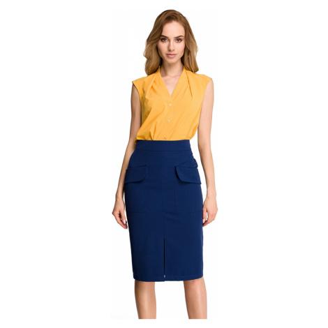 Tmavě modrá sukně S103