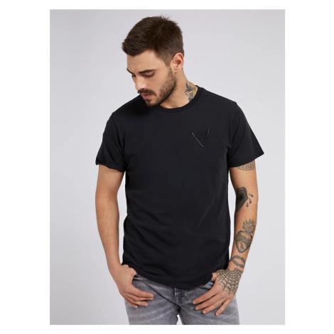 Guess GUESS pánské černé tričko ORGANIC BASIC